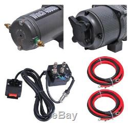 4000lbs 12V Electric Recovery Winch Towing Truck Trailer Line ATV SUV withGloves