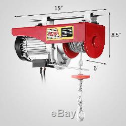 440Lbs Electric Hoist Winch Lifting Engine Crane Double Line Overhead Carbon