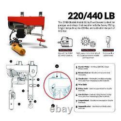 440 LB. Overhead Electric Hoist Crane with 20FT Remote Control Five Oceans FO-4439