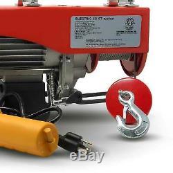 440 Lb Overhead Electric Hoist crane lift garage winch withremote 110V FO-3780-2