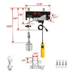 440 lb (200kg) Electric Hoist Winch Certified Single Double Phase Crane Lift