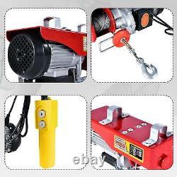 440lbs Overhead Electric Hoist crane lift garage winch withremote 110V Hoist Crane