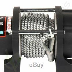 4500LBS 12V Electric Recovery Winch ATV UTV Wireless Remote Steel Wire Fairlead