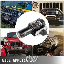 4500LBS Electric Winch 12V Synthetic Rope Tow Truck Trailer ATV UTV Offroad Boat