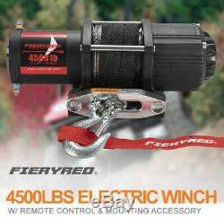 4500LBS Electric Winch Synthetic Rope with Remote Control for ATV UTE Offroad Boat