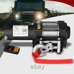 4500 LBS / 2041KGS Wireless Electric Winch 12V ATV 4WD Boat Steel Cable