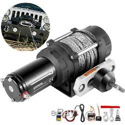 6000LBS Electric Winch 12V Synthetic Rope Tow Truck Trailer ATV UTV Offroad Boat