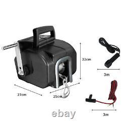 6500 LBS / 3000KGS Electric Boat Trailer Winch 12V Portable Detachable 10M