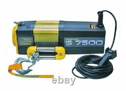 7500lb Electric Recovery Winch Superwinch S7500 24V Synthetic Rope. Warranty