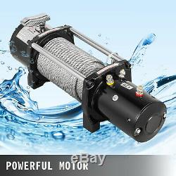 8000LBS Electric Winch 12V Steel Cable Off-road ATV UTV Truck Towing Trailer