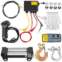 8000lbs Electric Recovery Winch Truck SUV Durable Remote Control 4WD Steel Rope