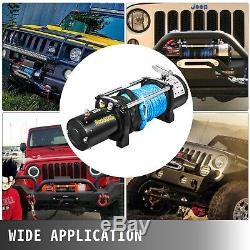 8000lbs Electric Recovery Winch Truck SUV Durable Remote Control 4WD Synthetic