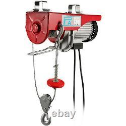880Lbs Electric Hoist Winch Lifting Engine Crane Brackets Lift Hook Garage