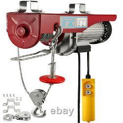 880Lbs Electric Hoist Winch Lifting Engine Crane Brackets Wire Motor Lift Hook