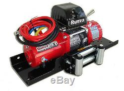 9500lb New Runva 12V Towing Recovery Electric Winch Kit With Short Drum TT Kit