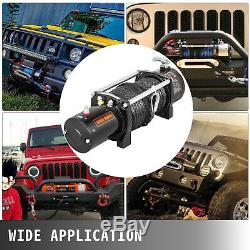 9500lbs Electric Recovery Winch Truck SUV Durable Remote Control 4WD Synthetic