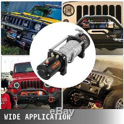 9500lbs Electric Winch 12V 85FT Steel Rope 4WD Waterproof Truck Towing Off Road