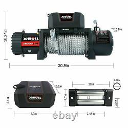 AAX-BULL Electric 12000LBS Winch Off-Road Steel Cable Recovery Wireless Remote