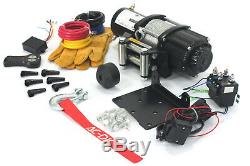 AC-DK 4500 lb ATV&UTV electric Winch 12V Come with Steel Rope and Hook stopper