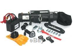 AC-DK Waterproof IP67 Electric Winch 12500lb With Synthetic Rope and Winch Cover