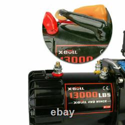 AX-BULL 13000LBS Electric Winch Synthetic Towing Trailer Remote Control Off-Road