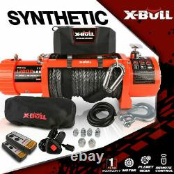 A X-BULL 13000LBS Electric Waterproof Winch Synthetic Off-Road Towing Trailer
