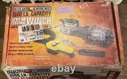 Badland 1500 lb. Electric Winch Lift Hoist 120V Portable Gearing Remote