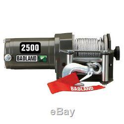 Badland 2500 lbs. ATV/Utility Electric Winch with Wireless Remote Control