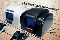 Blue Line Marine Boat Electric Anchor Winch Up to 45lb LED Light Wireless