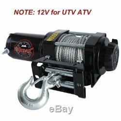 Bravex Electric 12V 3500lb/1591kg Single Line Waterproof Winch for UTV ATV Boat