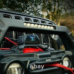 Car Winch 12000lb Synthetic Rope Waterproof IP67 Wireless Handheld Remote USA