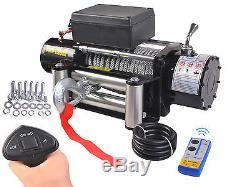 Classic 12000lbs 12V Electric Recovery Winch Truck SUV Durable Remote Control