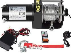 DCFlat 12V 2500LBS Wire Rope Electric Winch for Towing ATV/UTV/Boat Off Road
