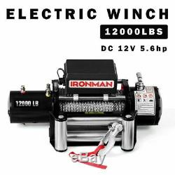 Durable 12000 lbs 12V Electric Wireless Remote Control Winch