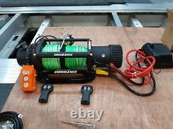 ELECTRIC RECOVERY TRUCK WINCH HI-VIZ SYNTHETIC ROPE FREE COVER £329.00 inc vat
