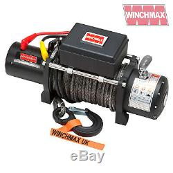 ELECTRIC WINCH 12V 4x4 13000 lb MILITARY SPEC MADE BY WINCHMAX SYNTHETIC ROPE