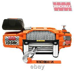 ELECTRIC WINCH 12V 4x4/RECOVERY SL 13500 lb WINCHMAX BRAND + MOUNTING PLATE INC