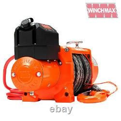 ELECTRIC WINCH 12V RECOVERY 4x4 17000 lb WINCHMAX WIRELESS SYNTHETIC DYNEEMA