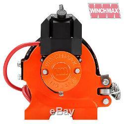 ELECTRIC WINCH 12V RECOVERY 4x4 20000 lb WINCHMAX ORIGINAL ORANGE WINCH REMOTE