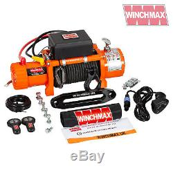 ELECTRIC WINCH 13500lb 12V ARMOURLINE ROPE WINCHMAX 4x4/RECOVERY WIRELESS