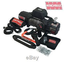 ELECTRIC WINCH 13500lb 12V SL MIL SPEC WINCHMAX 4x4/RECOVERY WIRELESS DYNEEMA
