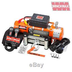 ELECTRIC WINCH 24V 4x4/RECOVERY 13500 lb WINCHMAX BRAND + MOUNTING PLATE INC