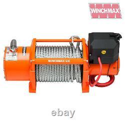 ELECTRIC WINCH 24V RECOVERY 4x4 17000 lb WINCHMAX ORIGINAL ORANGE winch REMOTE