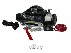 ENGO 97-10000S Electric Winch with Synthetic Rope, 10,000lbs
