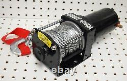 Electric 12V 3000LB Cable Winch Kit ATV/UTV Recovery Towing