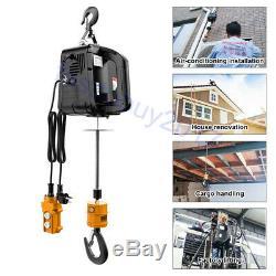 Electric Hoist Lifting Engine Heavy Duty Motor Winch Hoist Crane 220-1100lb 220V