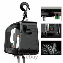 Electric Hoist Winch Portable Crane 1100 LBS 7.6Meters Wireless Remote Control