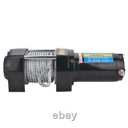 Electric Recovery Winch 12V 3500LBS Heavy Duty Remote Control Rope Trailer Truck