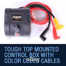 Electric Recovery Winch 24v 13500lb Heavy Duty Steel Cable, 4x4 Car RHINO