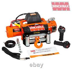 Electric Winch 12000lb Two Speed 12V Wire Rope WIRELESS FEATURE FAST WINCH